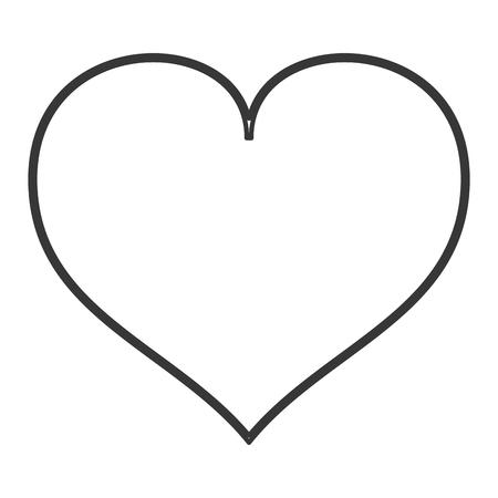hou van hart vorm romantische pictogram geïsoleerd vectorillustratie
