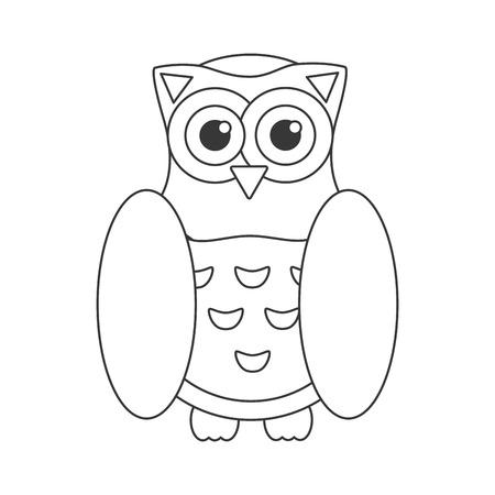 pigeon owl: Owl bird flat icon, wisdom symbol isolated vector illustration