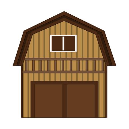 barn wood: flat design wooden barn icon vector illustration Illustration