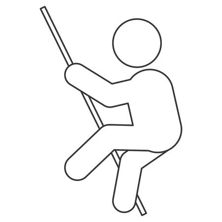pole vault: simple flat design pole vault pictogram icon vector illustration