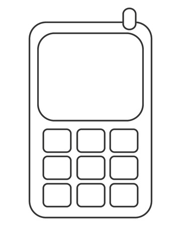 cellphone icon: simple flat design cellphone icon vector illustration