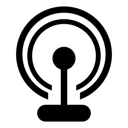 bandwidth: simple flat design wifi router signal icon vector illustration Illustration