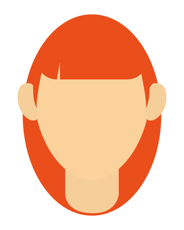 faceless: simple flat design faceless woman portrait icon vector illustration
