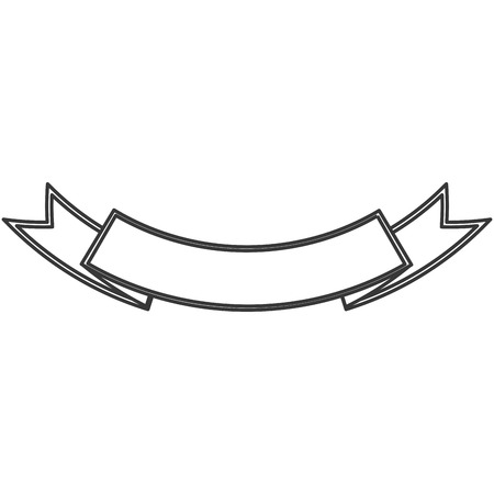 simple flat design ribbon banner icon vector illustration