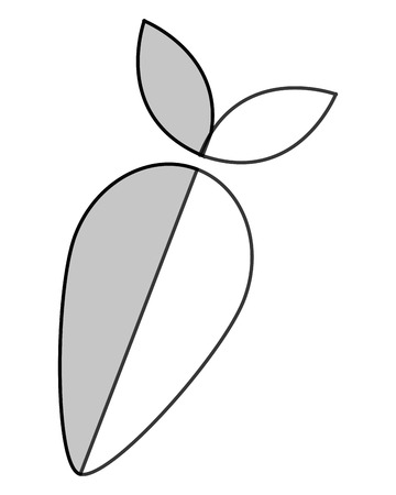 seedpod: simple flat design whole turnip icon vector illustration Illustration