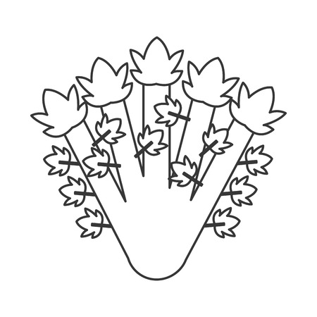 seedpod: simple flat design whole celery icon vector illustration
