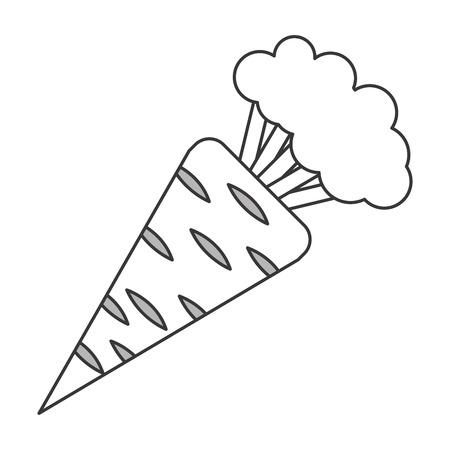 husk: simple flat design whole carrot icon vector illustration Illustration