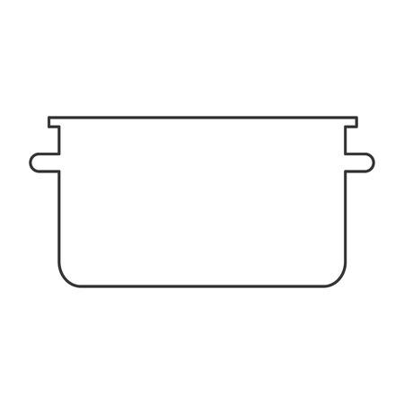 broth: simple flat design cooking pot icon vector illustration