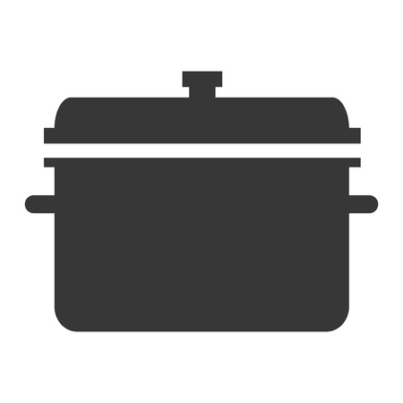 broth: simple flat design cooking pot icon vector illustration silhouette