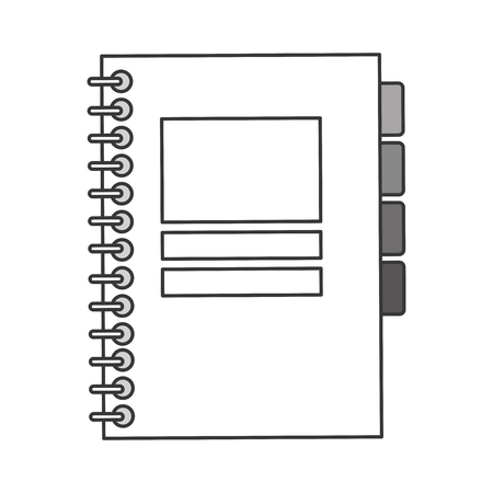 wired: simple flat design closed wired notebook icon vector illustration