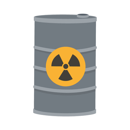 toxic waste: flat design toxic waste contamination icon vector illustration Illustration