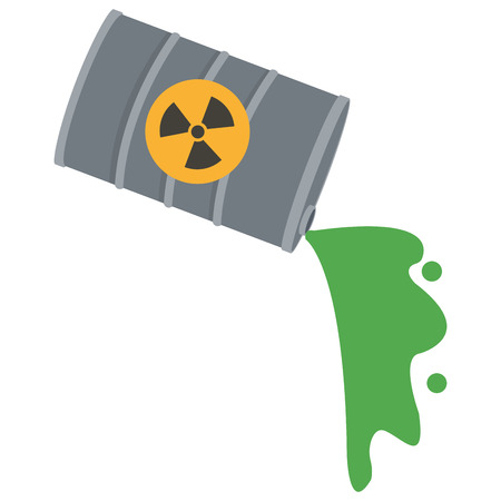 contamination: flat design toxic waste contamination icon vector illustration Illustration