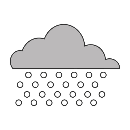 inclement weather: flat design cloud with rain icon vector illustration Illustration