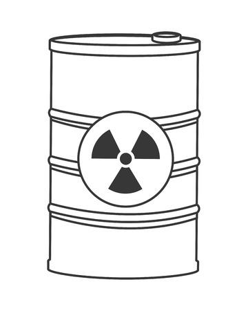 contaminated: flat design toxic waste contamination icon vector illustration Illustration