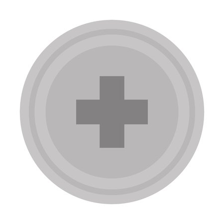 simple flat design medical cross icon vector illustration