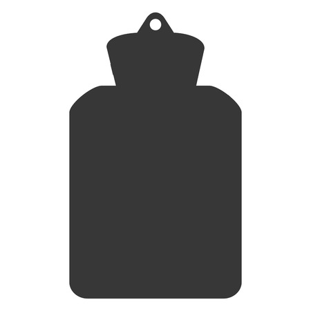 hot water bottle: simple flat design hot water bottle icon vector illustration
