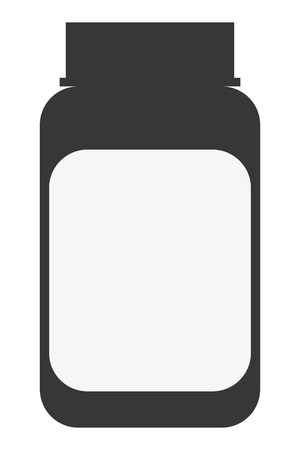group therapy: simple flat design medicine bottle icon vector illustration Illustration