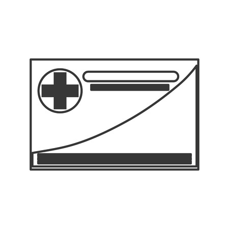 allowed to pass: simple flat design medical insurance card icon vector illustration