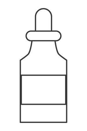 group therapy: simple flat design medicine bottle with dropper icon vector illustration