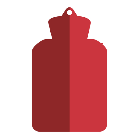 warmness: simple flat design hot water bottle icon vector illustration