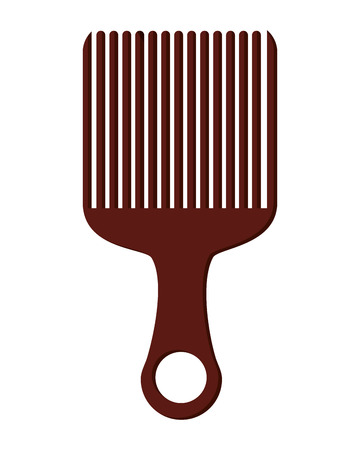 afro hair: simple flat design afro hair comb icon vector illustration Illustration