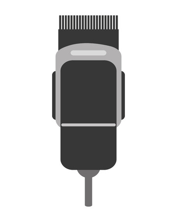clipper: simple flat design electric hair clipper icon vector illustration
