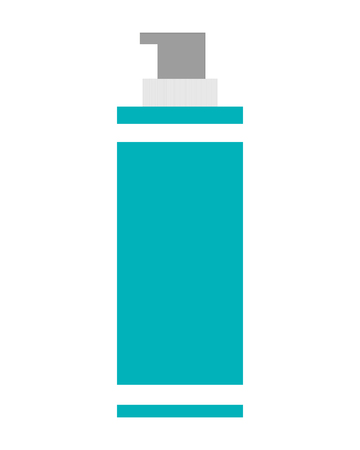 cosmetic product: simple flat design cosmetic product flask icon vector illustration