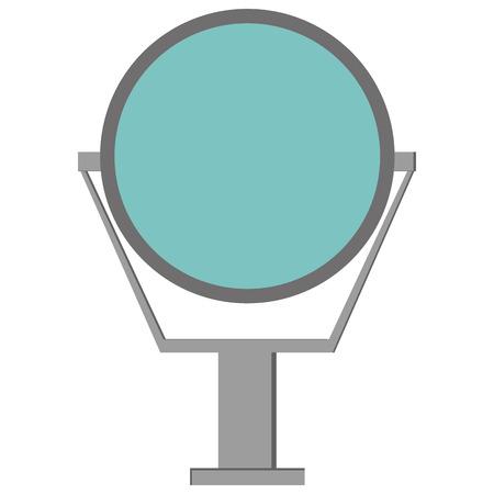 simple flat design round mirror icon vector illustration