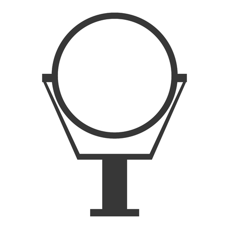 ironworks: simple flat design round mirror icon vector illustration