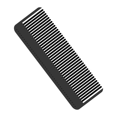 personal grooming: simple flat design hair comb icon vector illustration