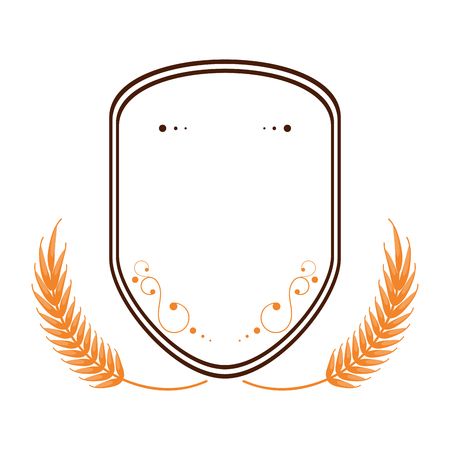 spike: Wheat spike icon design Isolated vector illustration