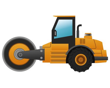 steamroller: flat design steamroller machine icon vector illustration Illustration