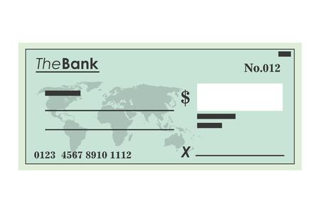 signos de pesos: ilustración vectorial icono de verificación bancaria diseño plano Vectores