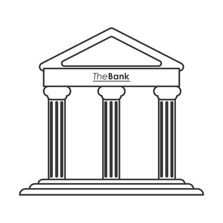hellenistic: flat design ancient greek building icon vector illustration line design