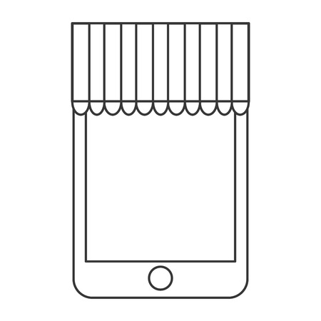 marquise: smartphone, mobile shopping buy icon isolated vector illustration