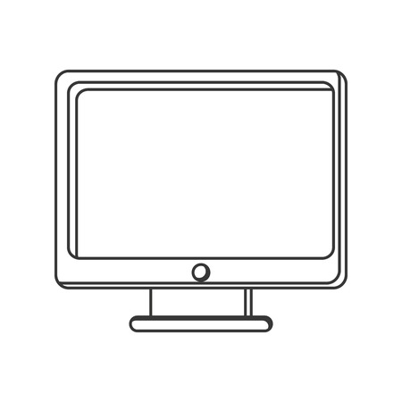 nternet: computer monitor screen icon isolated vector illustration