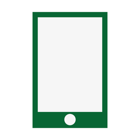 iphon: smartphone green screen flat icon isolated vector illustration