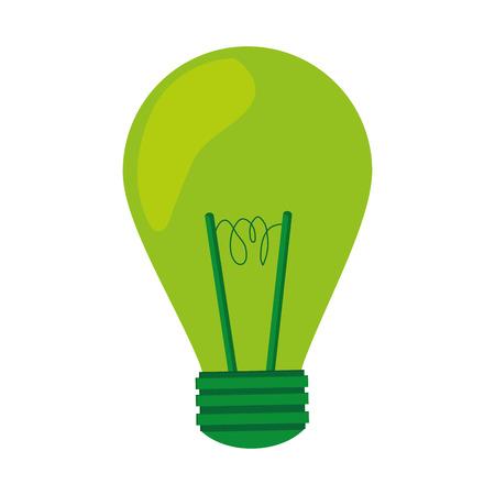 lumen: green light bulb lightbulb icon isolated vector illustration
