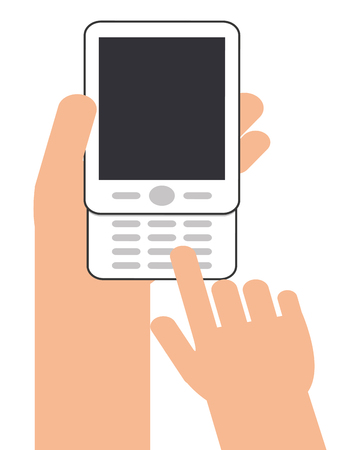 keywords adult: human hand smartphone mobile isolated vector illustration