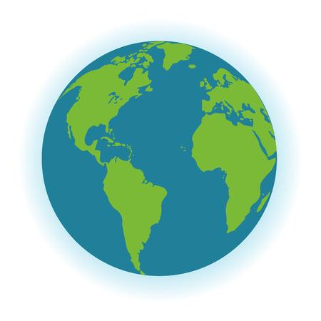 flat earth: flat design planet earth icon vector illustration