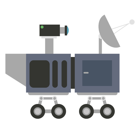 curiosity: flat design mars curiosity icon vector illustration Illustration