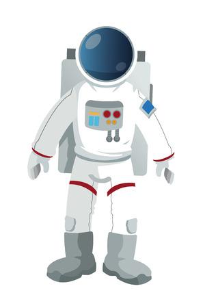 flat design astronaut suit icon vector illustration