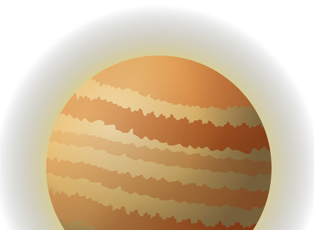 jupiter: flat design planet jupiter icon vector illustration Illustration