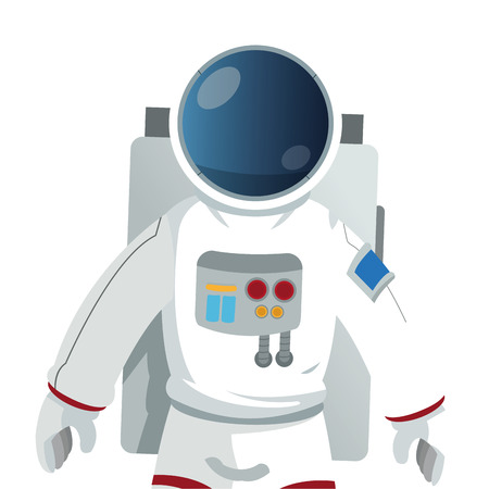 world receiver: flat design astronaut suit icon vector illustration