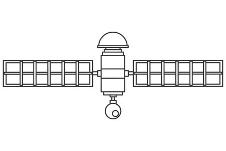 satelite: flat design single satelite icon vector illustration