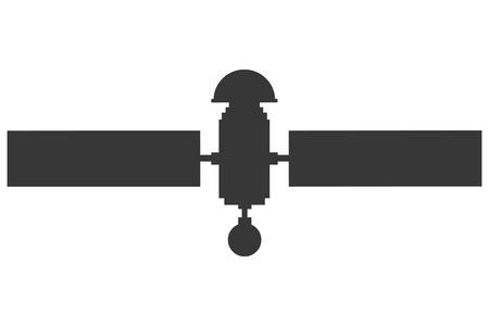 astronautics: flat design single satelite icon vector illustration