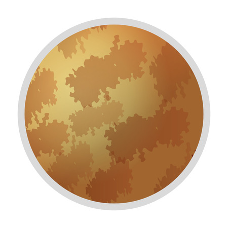 layered sphere: flat design planet mars icon vector illustration