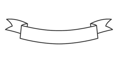 eenvoudige platte ontwerp lint banner pictogram vectorillustratie Stock Illustratie