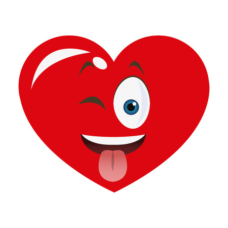 goofy: flat design goofy heart cartoon icon vector illustration Illustration
