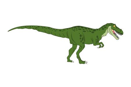 rex: Dinosaur cartoon comic tiranosaur rex isolated vector illustration